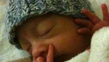 Blueberry In Preemie Hat