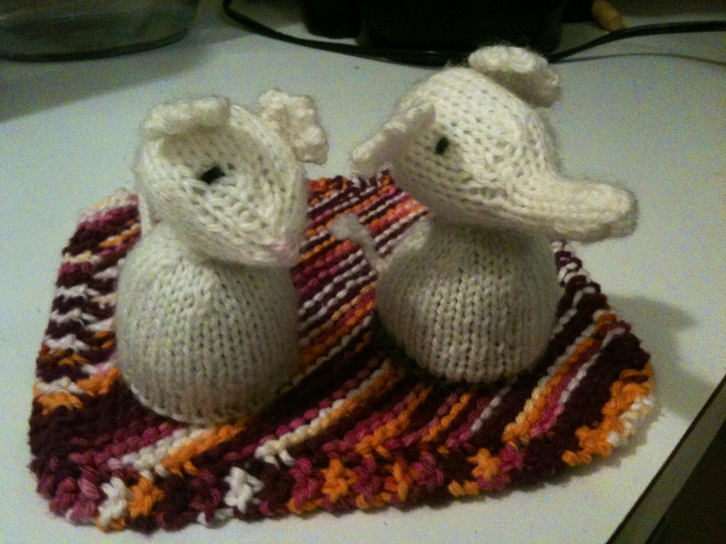 White Elephant And Mouse