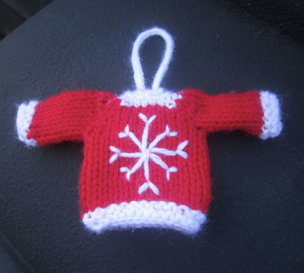 Red And White Tiny Sweater