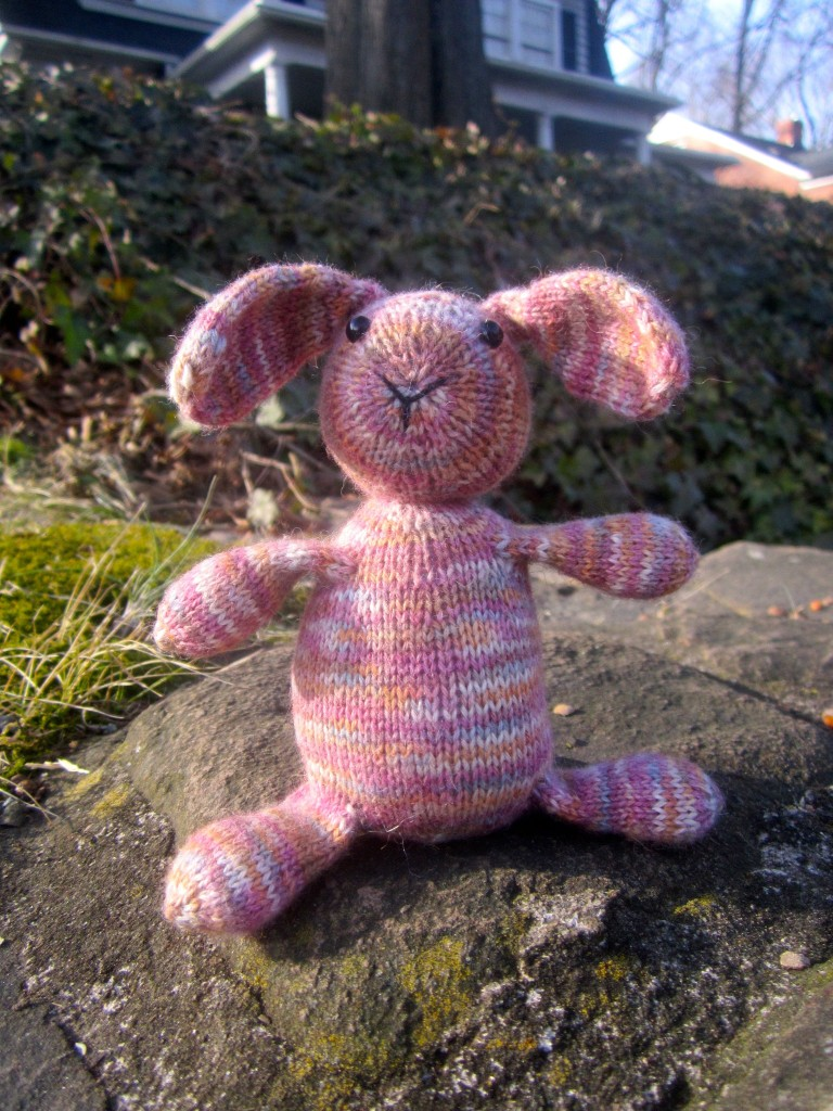Mini Sock Yarn Bunny