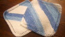 Portable Knitting: Dishcloths!