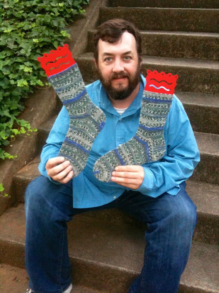 Knitting Daddy And His Socks
