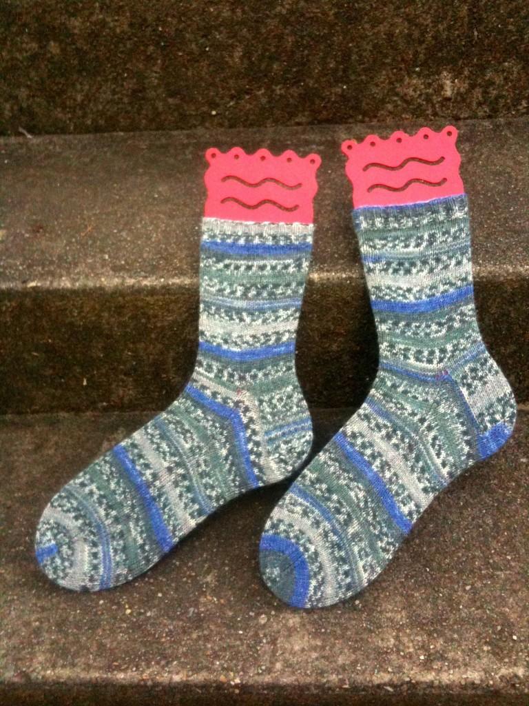 Knitting Daddy's Socks