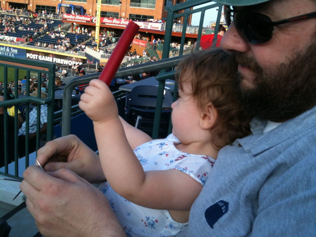Blueberry, Baseball, and Knitting