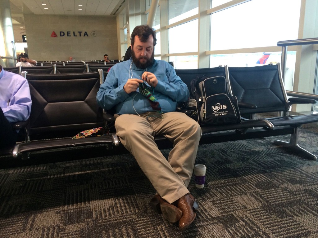 Airport Knitting