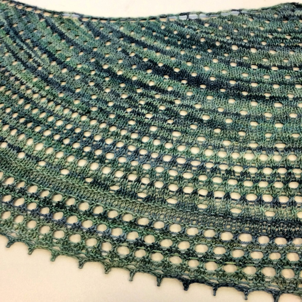 Pebble Beach Shawlette Lace