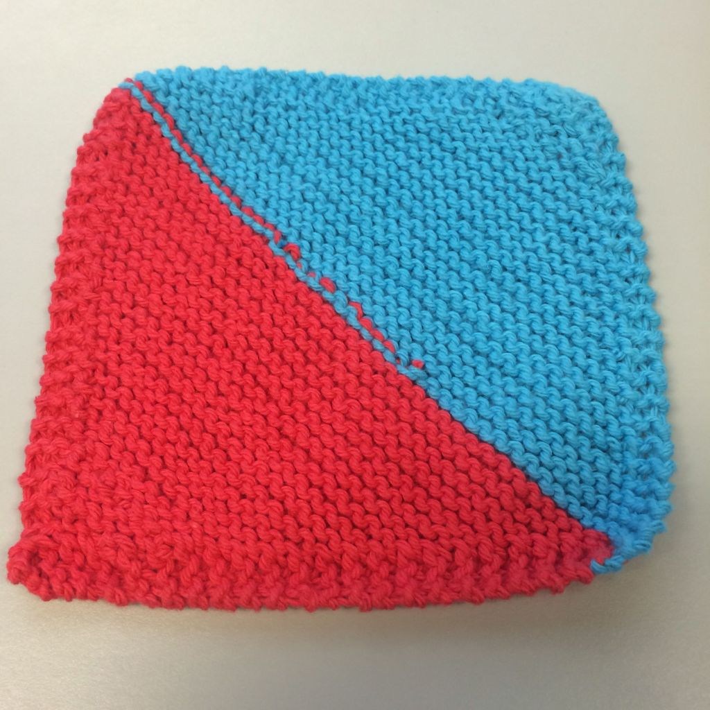Two-color Dishcloth