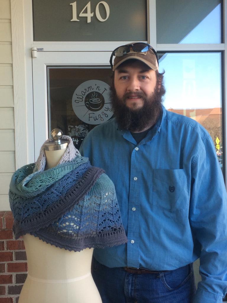 Knitter And Shawl