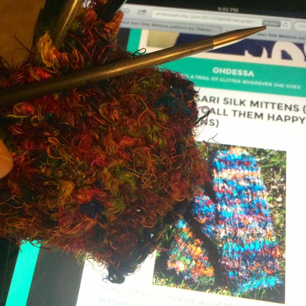 Working On The Mittens