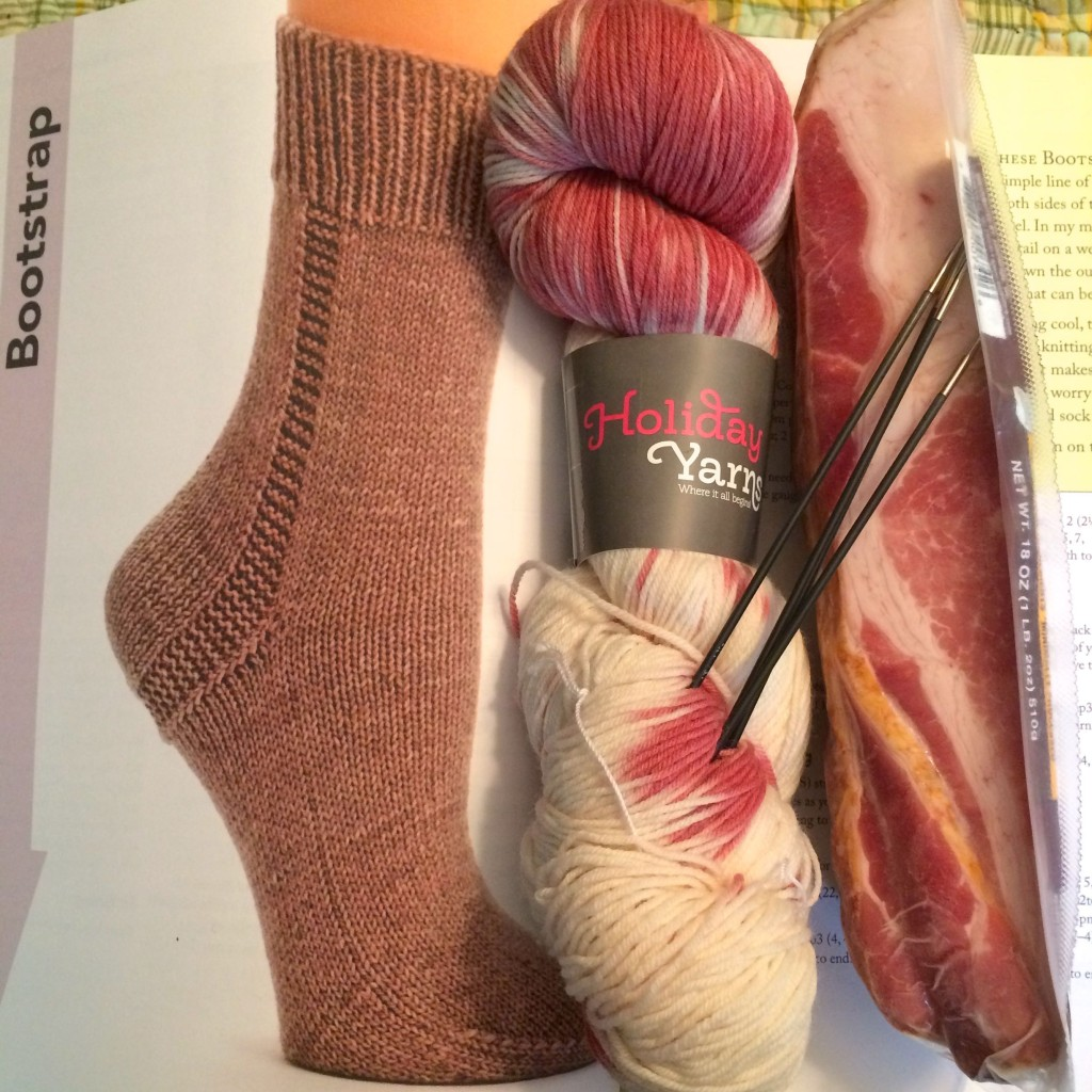 Bacon Bootstrap Socks