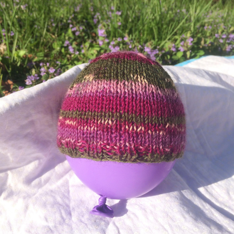 Scrappy Sock Yarn Preemie Hat Knitting Daddy