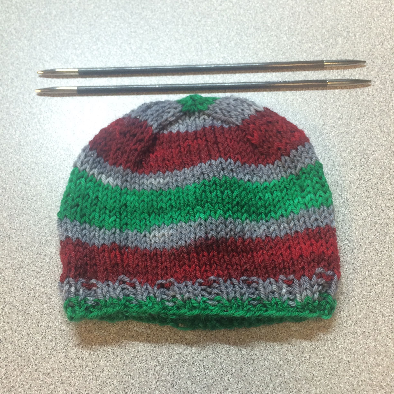 Baby Hat Knitting Pattern Sock Yarn : Scrappy Sock Yarn Preemie Hat Knitting Daddy